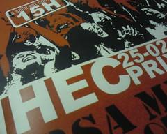 hec (Becem) Tags: red white black phonecam rouge blackwhite concert noir post ad bn prom blanc affiche noirblanc hec ihec