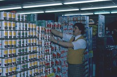 1976 Slide: IGA Supermarket (Neato Coolville) Tags: found store slide supermarket 70s cans grocerystore grocery iga