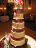 pink wedding cake photo