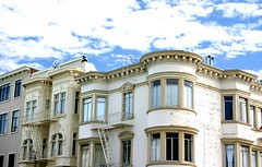 I Want to Run and Tell You the Thoughts That Are in My Head, But I Don't Think You'd Believe a Single World I Said (Thomas Hawk) Tags: sanfrancisco california usa architecture clouds apartment unitedstates 10 unitedstatesofamerica fav10