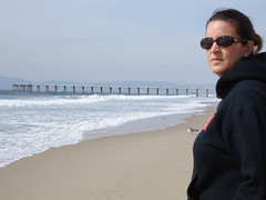 Courtney and the Pier (avenue44) Tags: california beach sand hermosabeach