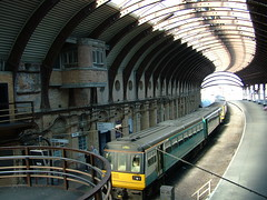 York Train Station - Yellow Train