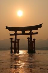 Torii Sunset, Miyajima - by kristi-san
