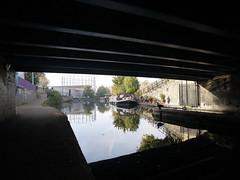 A bridge (wanderland.space) Tags: london uk autumn trees nwlondon kensalgreen reflections canal beautiful boat wwwwanderlandspace wanderlandspace bridge       panasoniclumix lumix panasonic