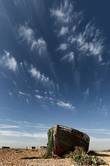 RX 131 (frattonparker) Tags: nikond5000 tamron1024mm raw adoberaw9 cs6 colorefexpro4 frattonparker btonner dungeness sky boats boatwreck wreck nets clinker carvel stem bow seacabbage shingle clouds cirrus cumulus cirrocumulus cumulonimbus stratus stratocumulus fluffy