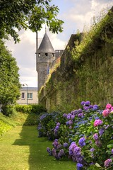 Quimper Walls (Tony Shertila) Tags: 20150725121348 bretagne fra france geo:lat=4799865947 geo:lon=410482049 geotagged quimper outdoor city walls defence flower tower architecture