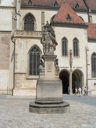 Bártfa, Szent Flórián-szobor