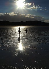 Chase (Ray Byrne) Tags: uk sea england sunlight beach water silhouette wow landscape coast seaside sand waves north run northumberland shore chase northern northeast bamburgh lindisfarne raybyrne byrneout byrneoutcouk webnorthcouk