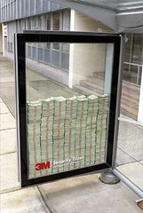 Good Advertising (avlxyz) Tags: money glass advertising bills notes busstop cash busshelter shelter 3m securityglass 3msecurityglass