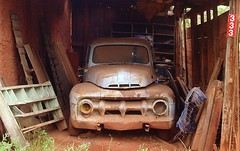 Old Pick-Up in Jemez Springs (taylorkoa22) Tags: auto new old shadow newmexico cars car bike truck wow mexico photo interestingness cool interesting automobile pretty photos pics albuquerque olympus explore vehicles springs transportation abq marc vehicle 300views 300 psychadelic 500 nm 1000 automobiles jemez cartruck 300v 1000v c765 100vistas marcgutierrez