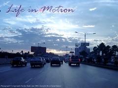 Life in Motion (fariha_shah) Tags: realm soul cbm collegeofbusinessmanagement bba3 fars princess gemworld fariha shah pakistan lahore karachi shahrah faisal blue sky cars motion life sunset