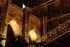 Behold (Ali Brohi) Tags: brooklynbridge nyc newyorkcity architecture bridge structure suspension arches night lights overexposure brooklyn seedingchaos httpwwwmoazzambrohicom moazzambrohicom wwwmoazzambrohicom
