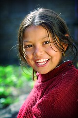 pure, simple smile (phitar) Tags: unicef travel 2002 nepal girl smile topf75 bravo asia topv1111 annapurna phitar