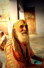in an ashram in Vrindavan (Sanzen) Tags: vrindavan krishna devotee sadhu ashram light bhakti devotion portrait