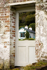 Knocking down the house to get through the door (bfaust) Tags: ireland garden kylemore