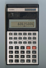 Casio COLLEGE FX-100 Pocket Calculator (psd) Tags: casio fx100 calculator goosegogs 60635006 scan