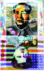 Mao-MostWantedMan (Mary Bogdan) Tags: china freeassociation interestingness published artist assemblage mixedmedia illustrations andywarhol mao jasperjohns playingcards exhibited marybogdan exhibitedworks mixedmediapaintings mostwantedman