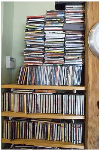 CDs shelf one