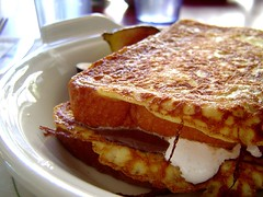 French toast fluff and nutella sammich (roboppy) Tags: favorite sandwich frenchtoast shopsins
