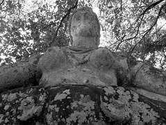 The Sacred Grove of Bomarzo #28 (Andrea Marutti) Tags: bomarzo bosco sacro parco mostri boscosacro parcodeimostri sacred grove sacredgrove orsini vicino vicinoorsini 1552 viterbo lazio italia italy italiacentrale centralitaly central centrale scultura sculture monumentale sculpture monumental august 2005 proserpina proserpine