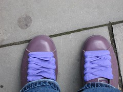 new trainers (beckster) Tags: fatlaces adidas purple new uncomfortable blisters okini