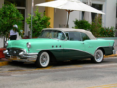 Buick Special Riviera - 1955 soft top (mnadi) Tags: auto green classic cars 1955 car buick automobile riviera florida miami topv1111 wheels topv999 special chrome 50s coupé