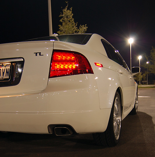 automobile car acura tl 2005 white