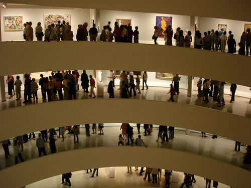 Visitors at the Guggenheim Museum, NYC
