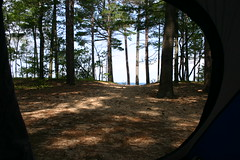 The view from our tent (ktpupp) Tags: camping lake beach up canon 300d michigan tent digitalrebel lakesuperior campsite upperpenninsula ktpupp twelvemilebeach 12milebeach amazingmich