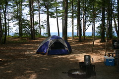 Our campsite (ktpupp) Tags: ktpupp lakesuperior upperpenninsula michigan canon 300d digitalrebel camping lake beach up 12milebeach twelvemilebeach tent campsite