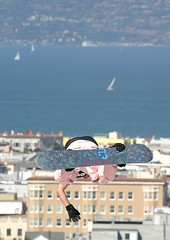 Fillmore Snow (12) (Thomas Hawk) Tags: sanfrancisco california city boy usa ski skiing unitedstates unitedstatesofamerica extremesports skijump pacificheights fillmorestreet fillmorest fillmorestreetskijump