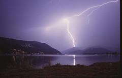Lightning at Lago di Lugano - by SPH