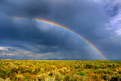 Rainbow in Harney County - by lyzadanger