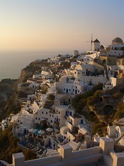 Oia Santorini at Dusk (ARKNTINA) Tags: sunset windmill island europe hellas santorini greece oia cyclades cycladicislands ccwebarkntina random6 gr05