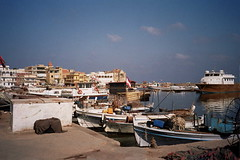 Tyre Harbor (upyernoz) Tags: sea lebanon tyre mediterraneansea