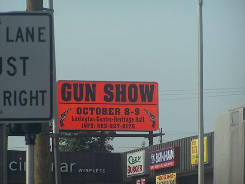 Gun Show Billboard Over A Gun Store In Lexington