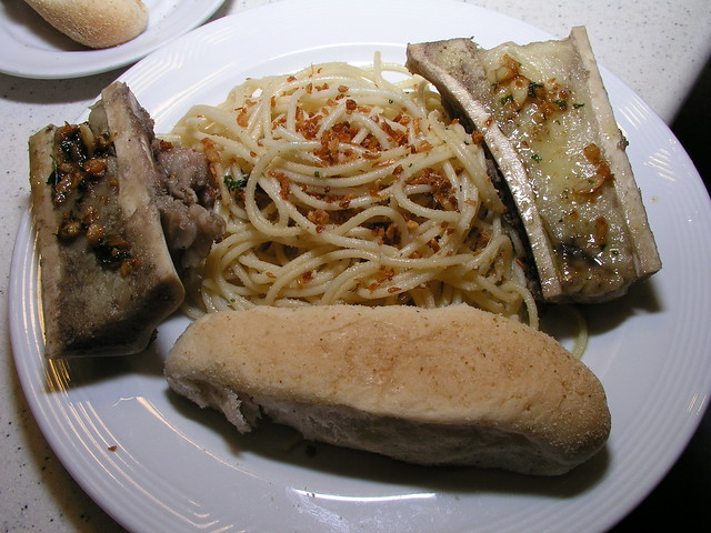bone marrow pasta platter