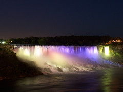 American Falls at Night (Diego3336) Tags: niagara falls waterfalls night light show niagarafalls ontario canada americanfalls