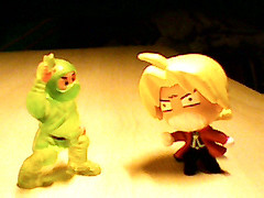 Green Plastic Ninja vs. Ed by Walcho