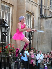Knife juggling (David Wilmot) Tags: pink england people bath britain streetartist streetperformer knives juggling performer breastcancer tutu tpc passionofthepink tpcu3 tpcu3l2