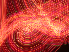 Chaotic Drop. (_nod) Tags: cameratoss cameradrop dropping toss drop nod christmaslights lights light red rainbow colours colour color colors trails cameratossing tossing