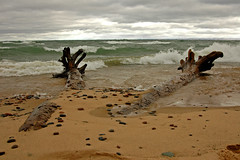 (raemarie) Tags: beach water michigan greatlakes lakesuperior whitefishpoint