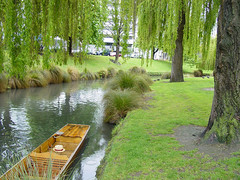Punting in the river