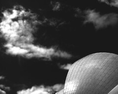 a night at the opera (macca) Tags: operahouse sky building architecture icon clouds bw sydney australia sydneyoperahouse
