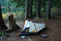 The Campsite (Mark Griffith) Tags: overnighter campout backpack hike hiking scouts youngmen acitivity tent kelty olallielake