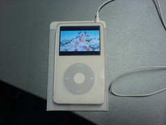 ipod playing Boundin' Pixar short (Mark) Tags: white video ipod 5g short pixar 30gb boundin ipodvideo