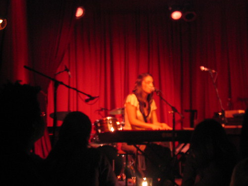 Sara Bareilles at the Hotel Cafe
