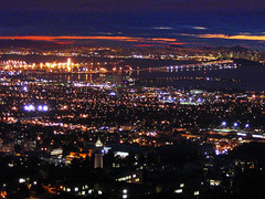 Berkeley and the San Francisco Bay Area by night. (chadisalem) Tags: sanfrancisco topv111 night berkeley topv555 topv333 nightshot topv1111 topv999 baybridge sanfranciscobayarea bayarea topv777 topv3333 ucberkeley sfchronicle 96hrs