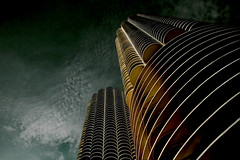 yankee hotel foxtrot (sgoralnick) Tags: downtown chicago architecture curvy buildings perspective corncob wilco marinacity bertrandgoldberg modernism canon20d