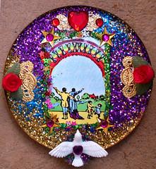love and happiness (Mary Hockenbery (reddirtrose)) Tags: glitter rainbow shrine reddirtrose